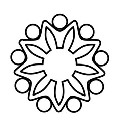 people emblem icon vector image