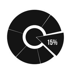 Percentage diagram icon simple style vector