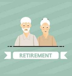 retirement people vector image vector image