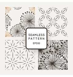 Set of seamless patterns with grungy hand vector image