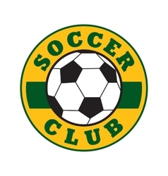 Soccer club sign vector