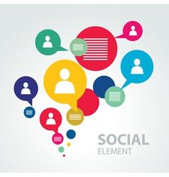 social icon group element vector image
