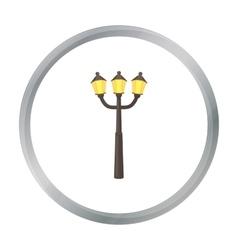 Street light icon in cartoon style isolated on vector image
