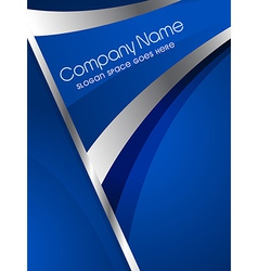 Stylish company brochure design vector