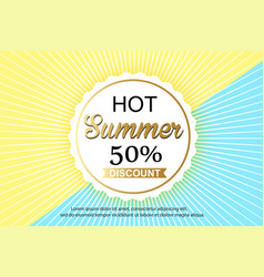 summer sale background design for banner flyer vector image