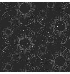 Vintage hand drawn chalk beams seamless pattern vector image