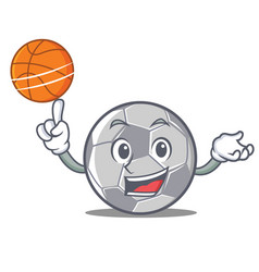 with basketball football character cartoon style vector image