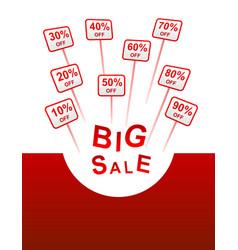 Big sale plates indicating discount vector
