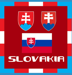 Official government ensigns of slovakia vector