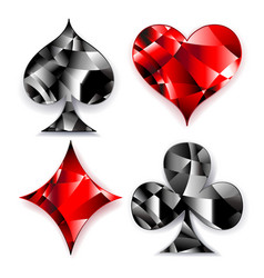 Polygonal symbols of playing card vector