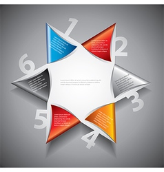 Infographics six pointed star vector