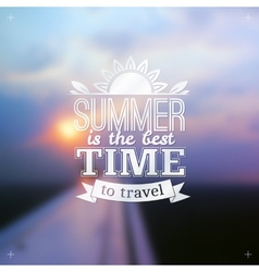 Summer time typography design on blurred sky vector
