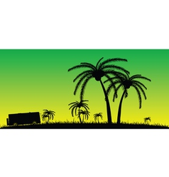 coconut palms in the nature color vector image