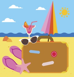 Summer holidays set vector image
