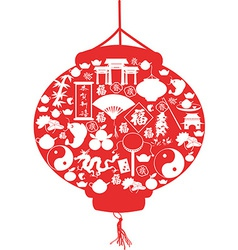 Chinese new year lantern vector