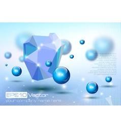 Abstract modern depth of field technology design vector