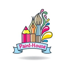 Logo paint vector