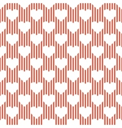 A pattern of hearts vector image