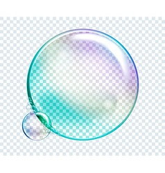 Rainbow water bubbles transparent isolated vector