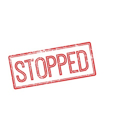 Stopped red rubber stamp on white vector