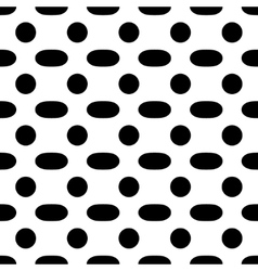 Oval geometric seamless pattern vector image