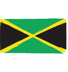 Abstract jamaican flag or banner vector