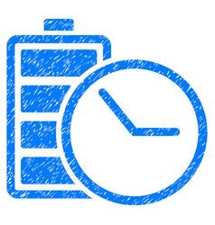 Battery clock grunge icon vector