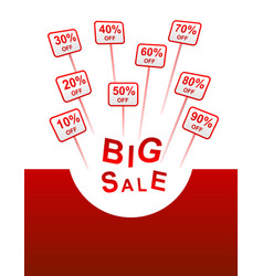 Big sale plates indicating discount vector