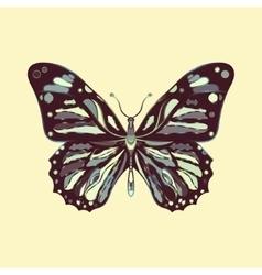 Butterfly in zentagle style vector