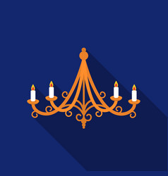 chandelier icon in flat style isolated on white vector image vector image