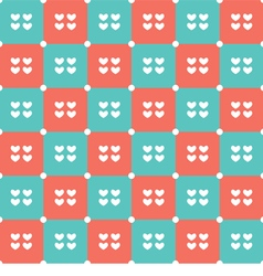 Duotone Hearts Seamless Pattern vector image