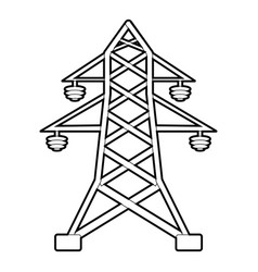 Electric pole icon outline style vector