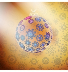 Elegant shiny christmas ball with ribbon vector image vector image