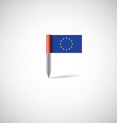 European union flag pin vector image