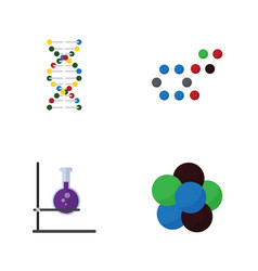 Flat science set of genome proton flask and vector