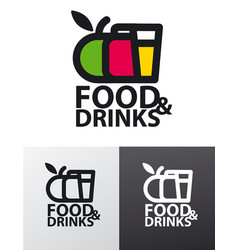 food company logo vector image vector image