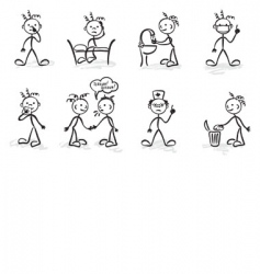 funny hygiene vector image vector image