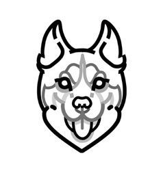 Husky head symbol on white background vector image