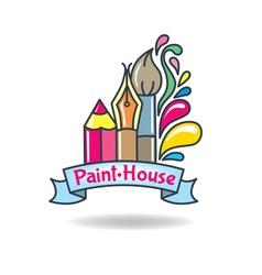 Logo paint vector image