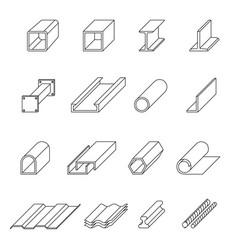 metal production line art set vector image