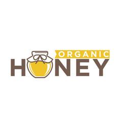 organic honey emblem vector image vector image