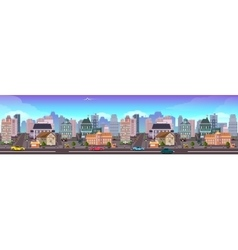 Panama city skyscraper view cityscape vector
