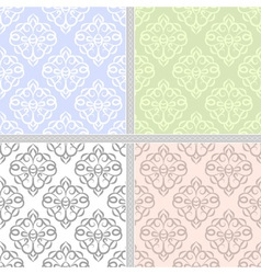 Pastel seamless ethnic pattern set vector image