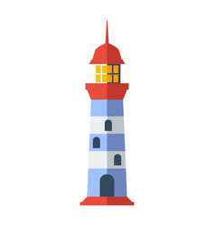 sea lighthouse isolated icon vector image vector image
