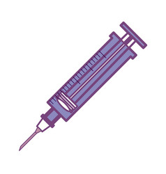 syringe medical symbol vector image vector image