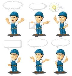 Technician or repairman mascot 17 vector
