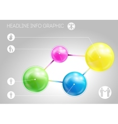 Template of page with four 3D-effect metaballs vector image vector image
