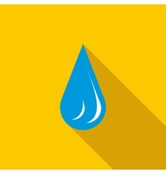 Water drop icon in flat style vector image