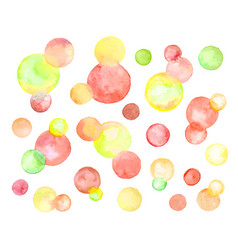 watercolor circles isolated vector image