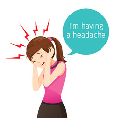 Working woman terrible headache vector